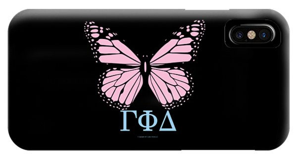 Gamma Phi Delta Classy Butterfly  IPhone Case