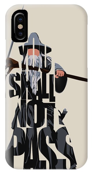Vector iPhone Case - Gandalf - The Lord Of The Rings by Inspirowl Design