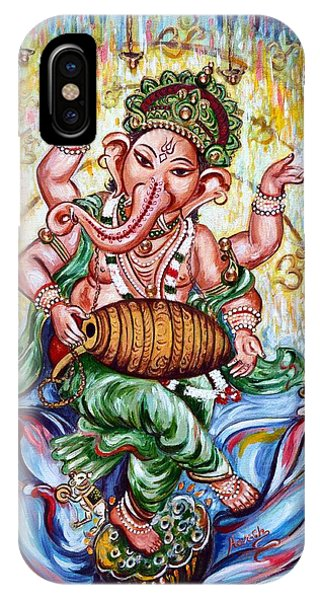 Ganesha Dancing And Playing Mridang IPhone Case
