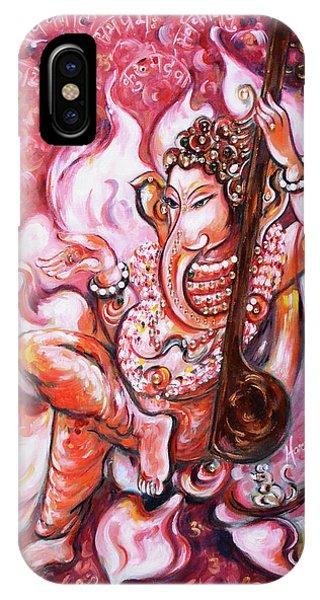 Ganesha - Enjoying Music IPhone Case