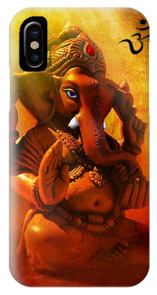 Ganesha Hindu God Asian Art IPhone Case