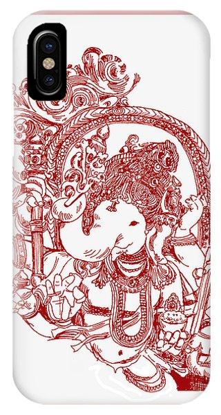 Ganesha Line Drawing IPhone Case