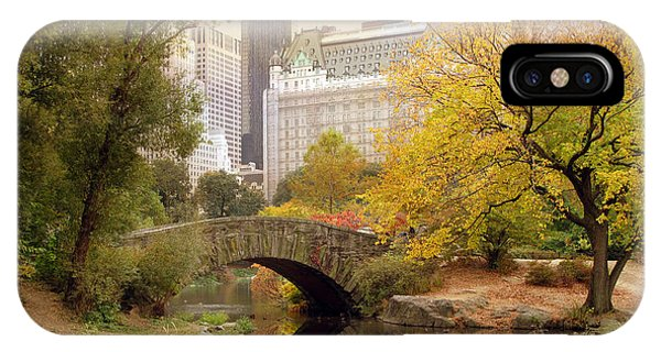 Gapstow Bridge Reflections IPhone Case