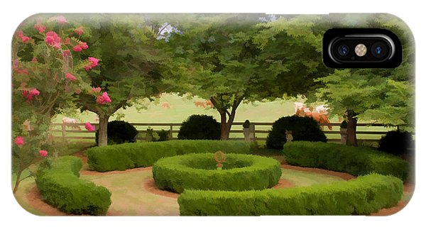 Garden At Colonial Heights IPhone Case