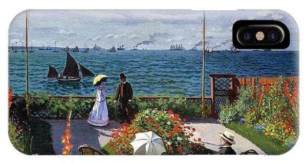 Garden At Sainte Adresse By Claude Monet IPhone Case