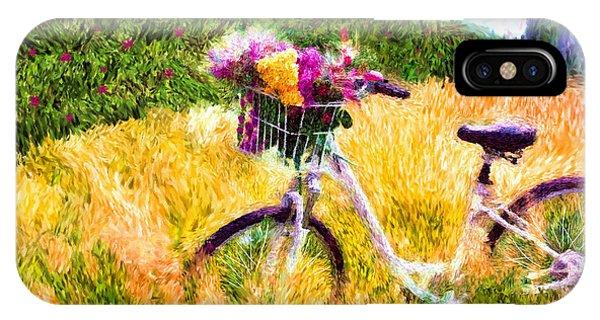 Garden Bicycle Print IPhone Case