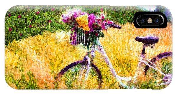 Garden Bicycle Print IPhone Case