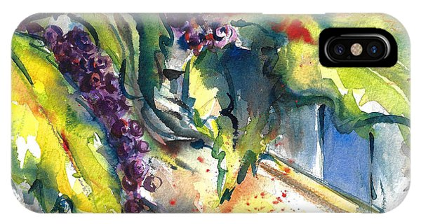 Garden Gate In Fall With Poke Berries  IPhone Case