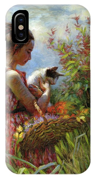 Basket iPhone Case - Garden Gatherings by Steve Henderson