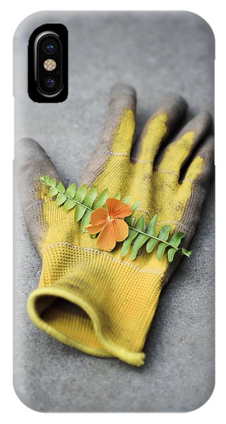 Garden Glove And Pansy Blossom2 IPhone Case
