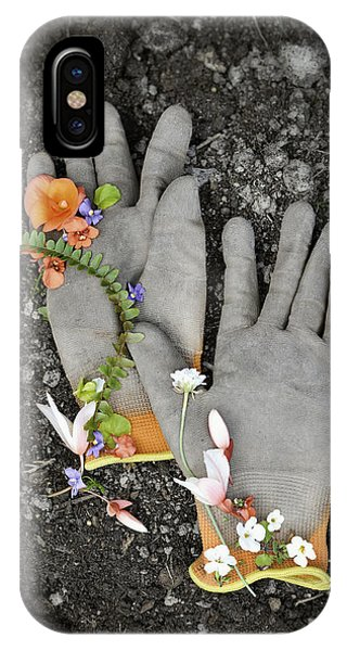 Garden Gloves And Flower Blossoms IPhone Case