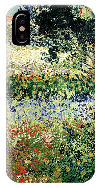IPhone Case featuring the painting Garden In Bloom by Van Gogh