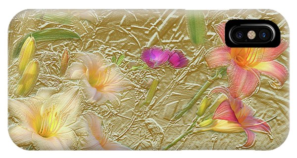 Garden In Gold Leaf2 IPhone Case