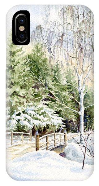 Garden Landscape Winter IPhone Case