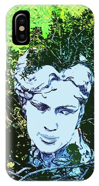 Garden Nymph Head Planter IPhone Case