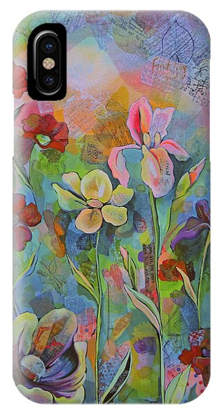 iPhone Case - Garden Of Intention - Triptych Center Panel by Shadia Derbyshire