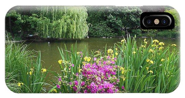 Palace iPhone Case - Garden Pond Near Buckingham Palace  by Irina Sztukowski