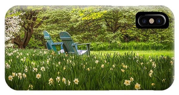 Garden Seats IPhone Case