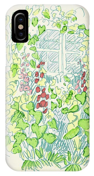 Flora iPhone Case - Garden Sketch by German School