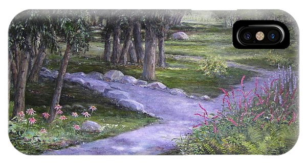 IPhone Case featuring the painting Garden Walk by Jan Byington