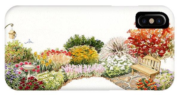 Garden Wild Flowers Watercolor IPhone Case