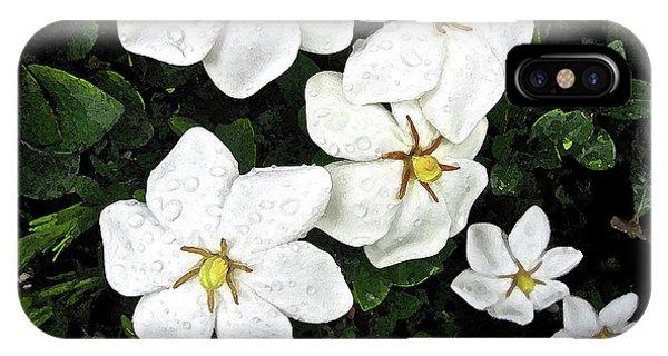 Gardenias In The Rain IPhone Case
