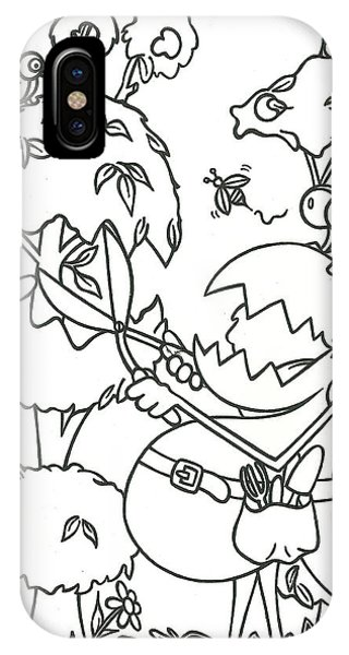Gardening Monster IPhone Case