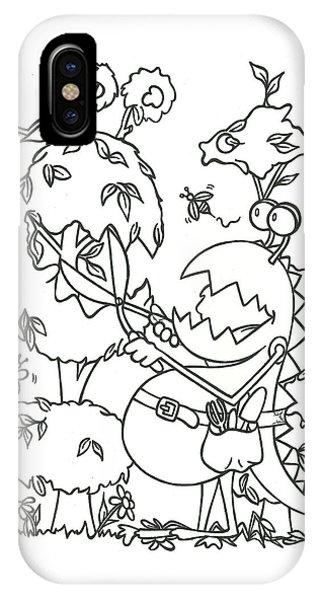 Gardening Monster IPhone Case