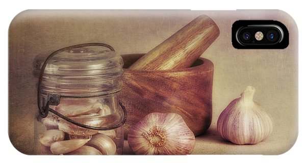 Season iPhone Case - Garlic In A Jar by Tom Mc Nemar