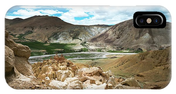 Kora iPhone Case - Garuda Valley Tibet Yantra.lv by Raimond Klavins