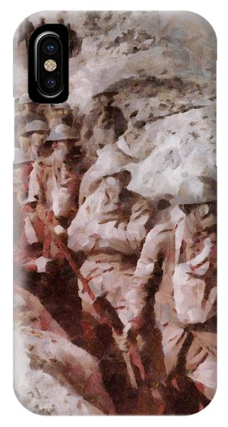 Wwi iPhone Case - Gas Attack Wwi  by Esoterica Art Agency