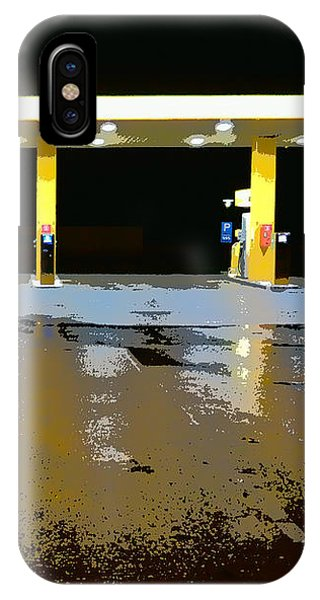 Gas Pumps At Night IPhone Case