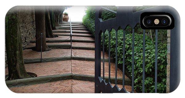 Gate To Castello Vichiamaggio IPhone Case