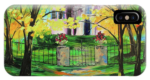 IPhone Case featuring the painting Gated House by Kevin Brown
