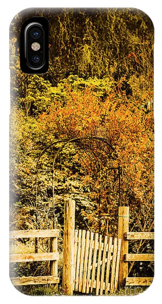 Fence iPhone Case - Gates In Fall by Jorgo Photography - Wall Art Gallery