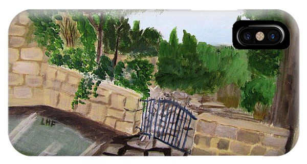 IPhone Case featuring the painting Gate's Open, Come In by Linda Feinberg