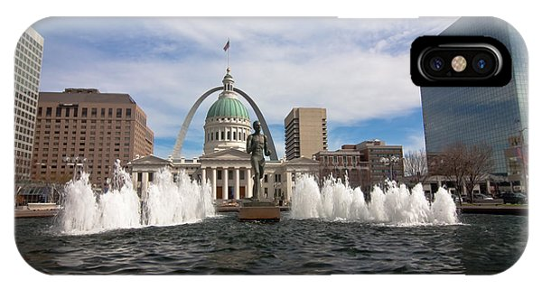 Gateway Arch And Old Courthouse In St. Louis IPhone Case