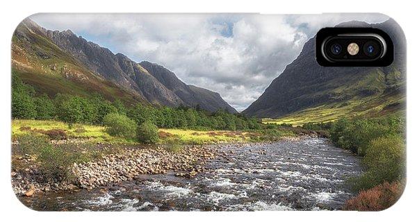 Beautiful Scotland iPhone Case - Gateway To Glencoe No 1 by Chris Fletcher
