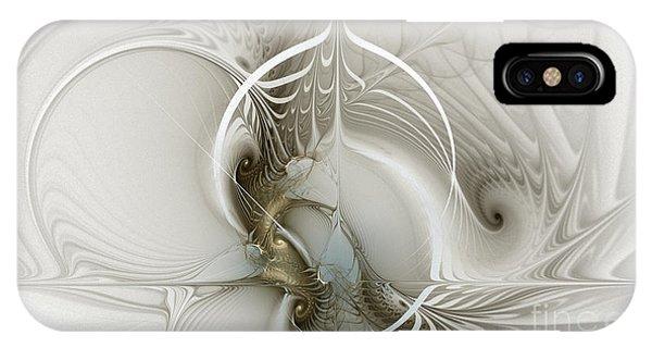 Fractal Geometry iPhone X Case - Gateway To Heaven-fractal Art by Karin Kuhlmann