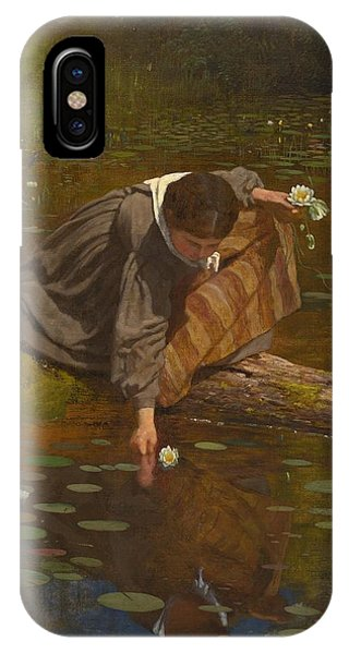 iPhone Case - Gathering Lilies by Eastman Johnson