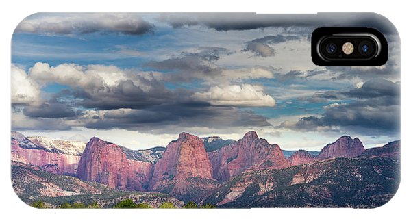Gathering Storm Over The Fingers Of Kolob IPhone Case