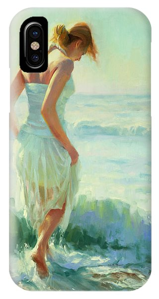 Aqua iPhone Case - Gathering Thoughts by Steve Henderson