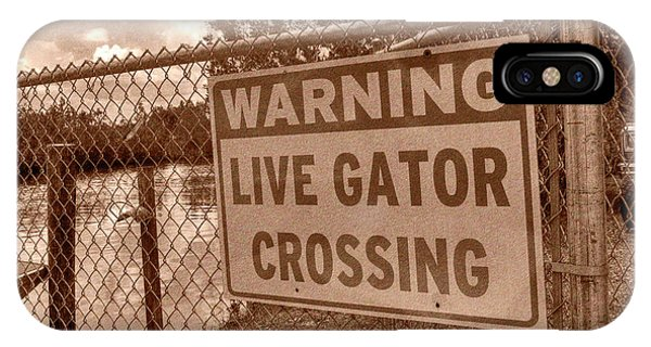Gator Crossing IPhone Case