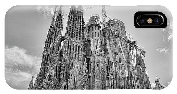 Gaudi La Sagrada Blk Wht IPhone Case