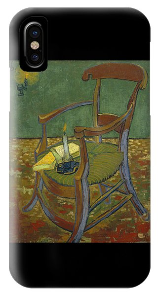IPhone Case featuring the painting Gauguin's Chair by Van Gogh