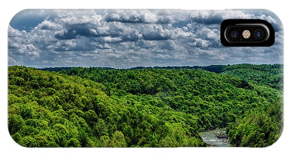 iPhone Case - Gauley River Canyon And Clouds by Thomas R Fletcher