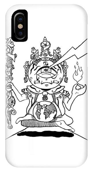 Gautama Buddha Black And White IPhone Case