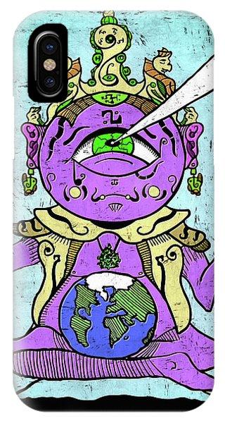Gautama Buddha Colour Illustration IPhone Case