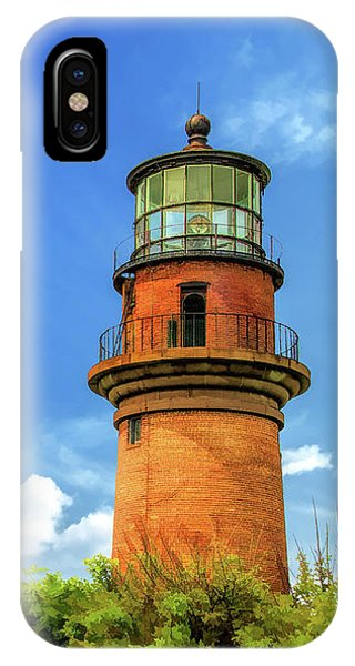IPhone Case featuring the painting Gay Head Lighthouse by Christopher Arndt