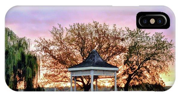 Gazebo Sunrise At Claytor Lake IPhone Case